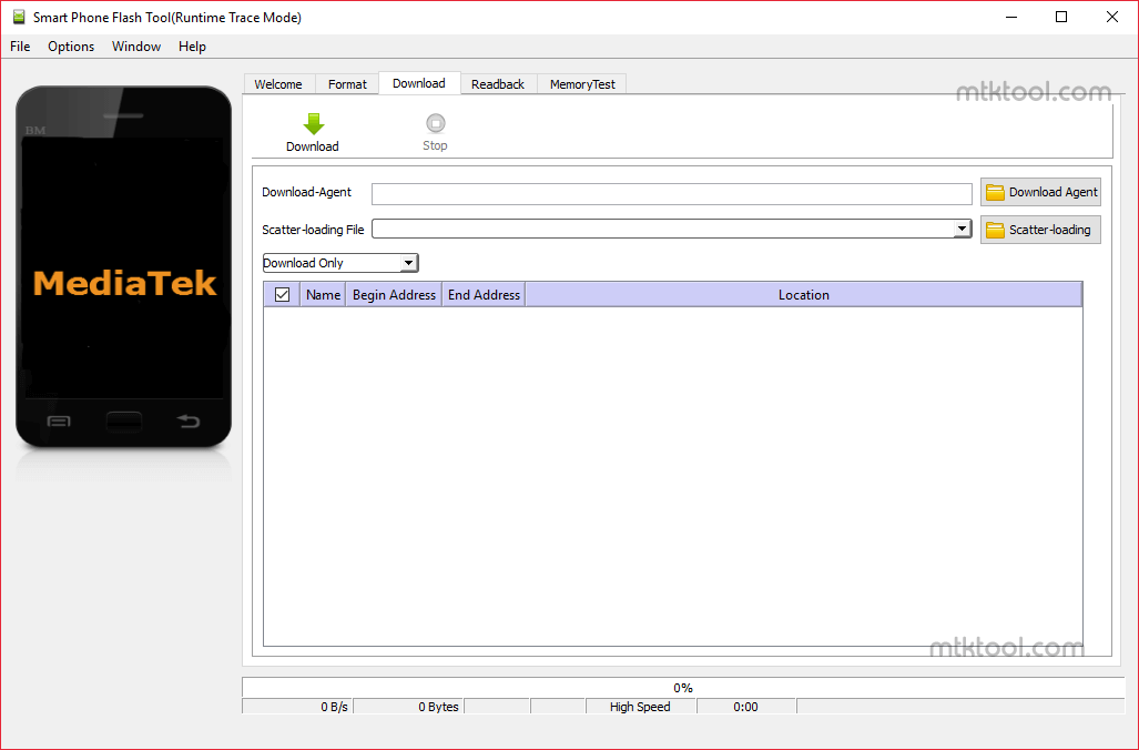 SP Flash Tool v5.1352